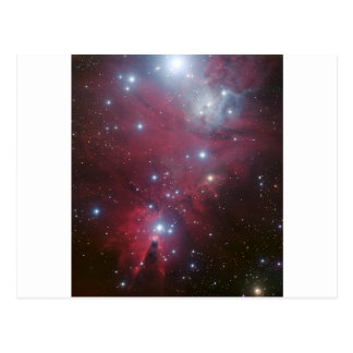 Pink Star Cluster Nebula Postcard