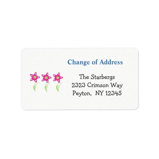 Pink Star Flowers Home Address Address Label