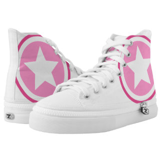 Pink Star High Tops