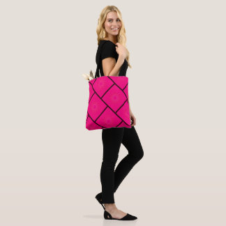 Pink star pattern tote bag