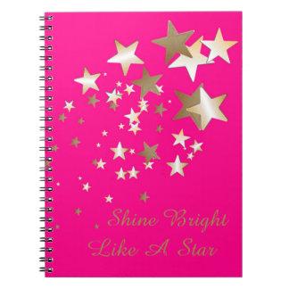 Pink Star Spiral Notebook