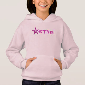 Pink Star 'STAR!' small star front  & back pink