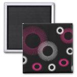 pink starburst magnet