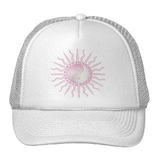 Pink Starburst Yin Yang Mesh Hats