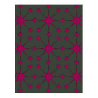 Pink Starbursts Postcard