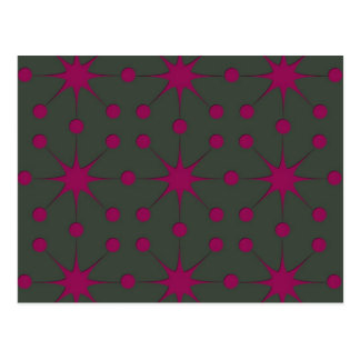 Pink Starbursts Post Card