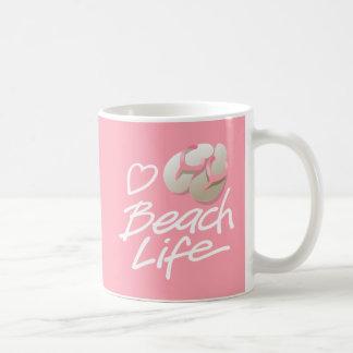 Pink StarDude Heart Beach Life Mug