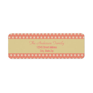 Pink Starfish Beach - Return Address Labels
