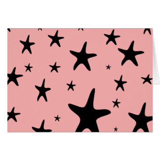 Pink Starfish Blank Card