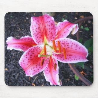 Pink Stargazer  Lily Mouse Mat