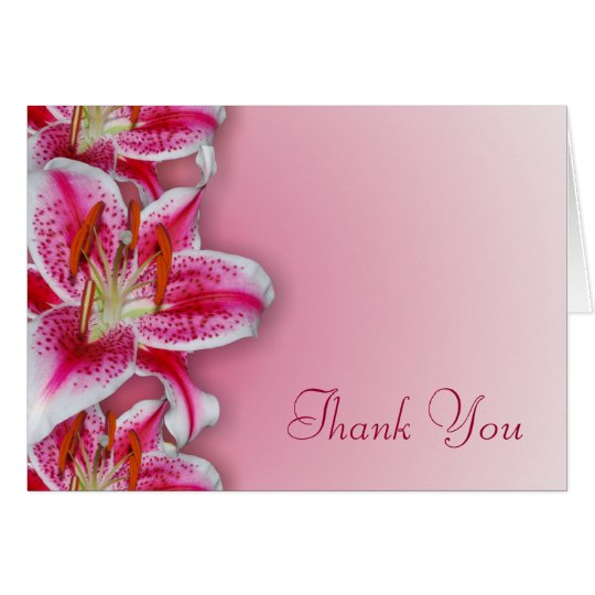 Pink Stargazer Thank You Card