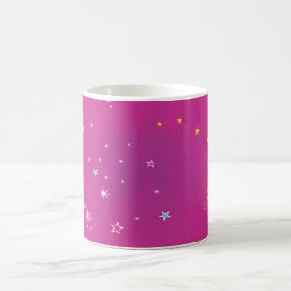 Pink Starry Classic White Coffee Mug