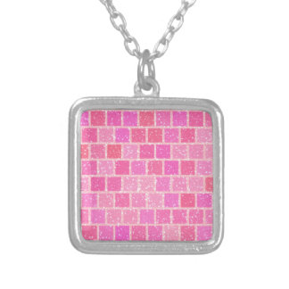 Pink Starry Squares Necklace