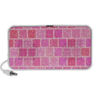 Pink Starry Squares Speaker System