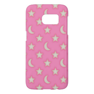 Pink stars and moons pattern