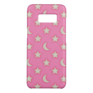 Pink stars and moons pattern Case-Mate samsung galaxy s8 case