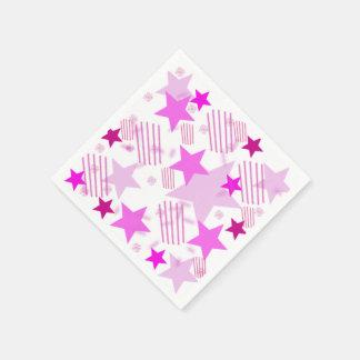 Pink Stars and Stripes Napkins Disposable Napkin