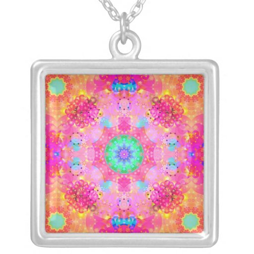 Pink Stars & Bubbles Fractal Pattern Custom Jewelry