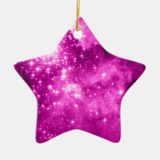 Pink Stars Christmas Ornament