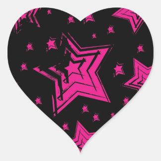 Pink stars on black background.jpg sticker