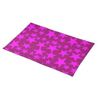 Pink Stars Place Mat