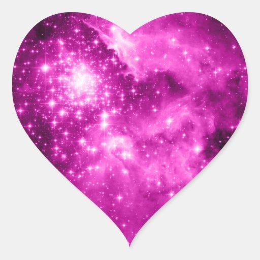 Pink Stars Stickers