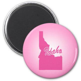 Pink State Idaho 6 Cm Round Magnet
