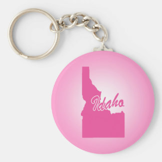 Pink State Idaho Key Ring