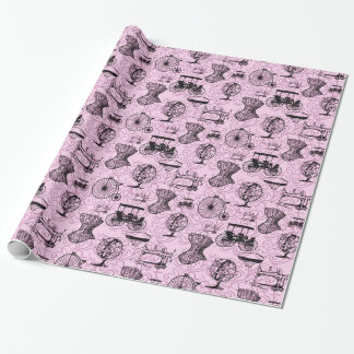 Pink Steampunk Pattern Wrapping Paper