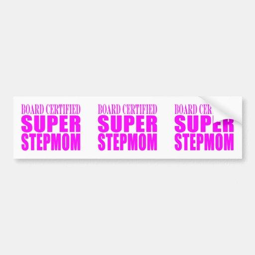 Pink Stepmoms Birthdays & Christmas Super Stepmom Bumper Sticker