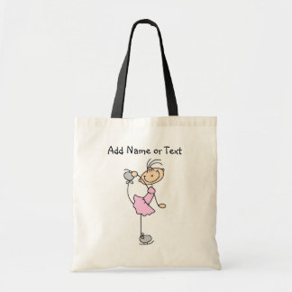 Pink Stick Figure Girl Ice Skater Customized Bag