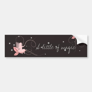 Pink sticker fairy has little off magic bumper sticker