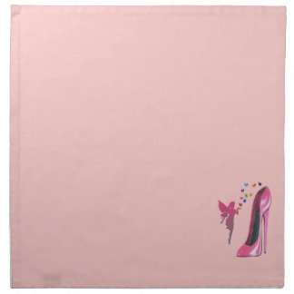 Pink Stiletto and Fairy Hearts American MoJo Napki Napkin