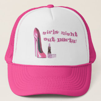 Pink Stiletto and Lipstick Girls' Night Out Party  Trucker Hat