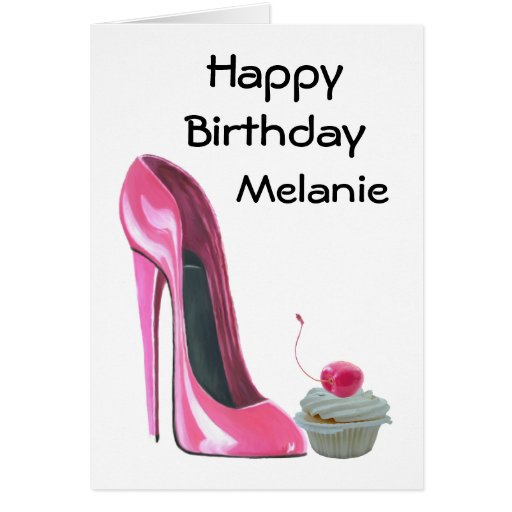 Pink Stiletto Shoe and Cupcake Greeting Cards