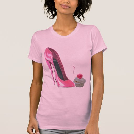 Pink Stiletto Shoe and Cupcake Tshirts