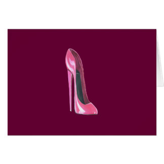 Pink stiletto shoe card