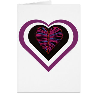 Pink Stitched Heart Card