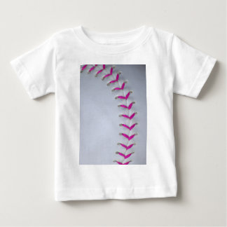 Pink Stitches Baseball / Softball Baby T-Shirt