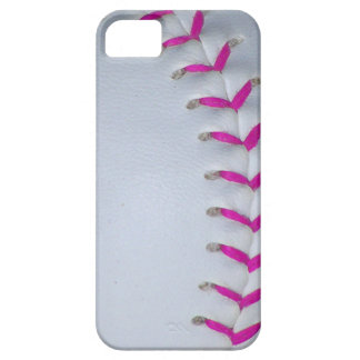 Pink Stitches Baseball / Softball Barely There iPhone 5 Case