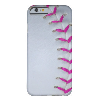 Pink Stitches Baseball / Softball Barely There iPhone 6 Case