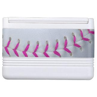 Pink Stitching Softball Igloo Cool Box