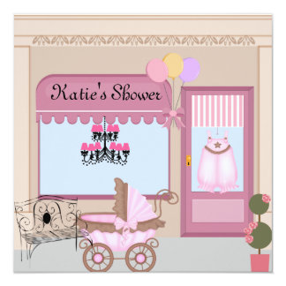 PINK STORE FRONT Baby Shower Invitation