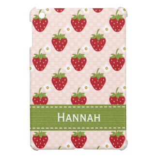 Pink Strawberry Cover For The iPad Mini
