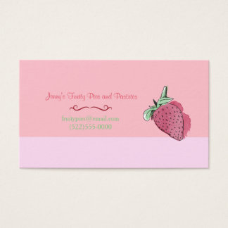 Pink Strawberry Design and Logo Business Card