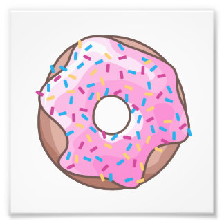 Pink Strawberry Donut Art Photo