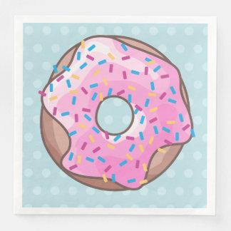 Pink Strawberry Donut Paper Napkin