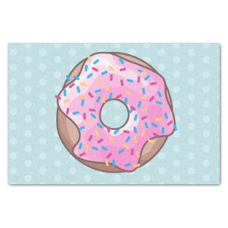 Pink Strawberry Donut Tissue Paper