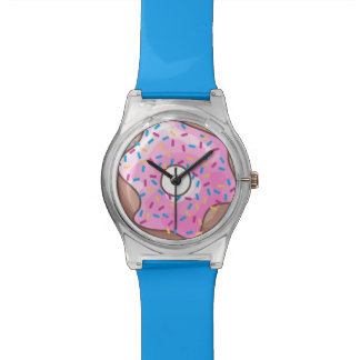 Pink Strawberry Donut Watches