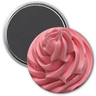 Pink Strawberry Frosting or Ice Cream Magnet